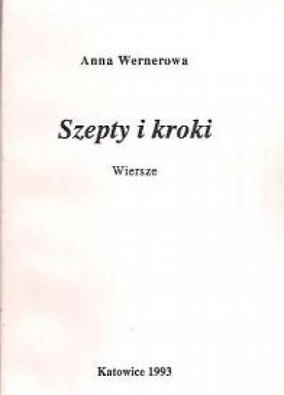 Szepty I Kroki Wiersze Anna Wernerowa Książka