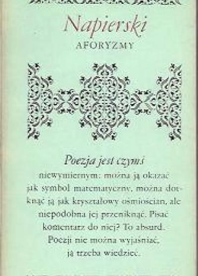 Aforyzmy Stefan Napierski Książka