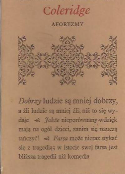 Samuel Taylor Coleridge - Aforyzmy