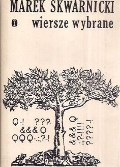 Znalezione obrazy dla zapytania Marek Skwarnicki Wiersze wybrane