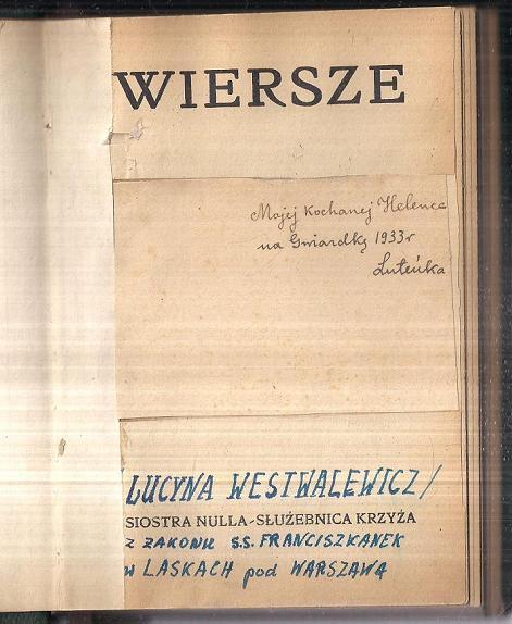 Wiersze Wyd 1946 Siostra Nulla Służebnica Krzyża